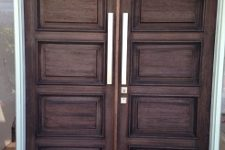Solid Timber Door with Stainless Steel features